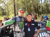 M Clunie and Ken Block Rally Aus WRC